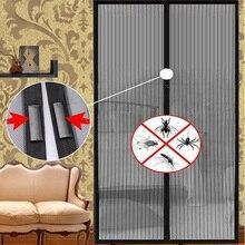 Puerta de Pantalla Magnética Suave de La Raya Del Verano caliente Anti-Mosquito Magia Malla Cortinas Insect Fly Bug Mosquito Net En el Imanes de las puertas