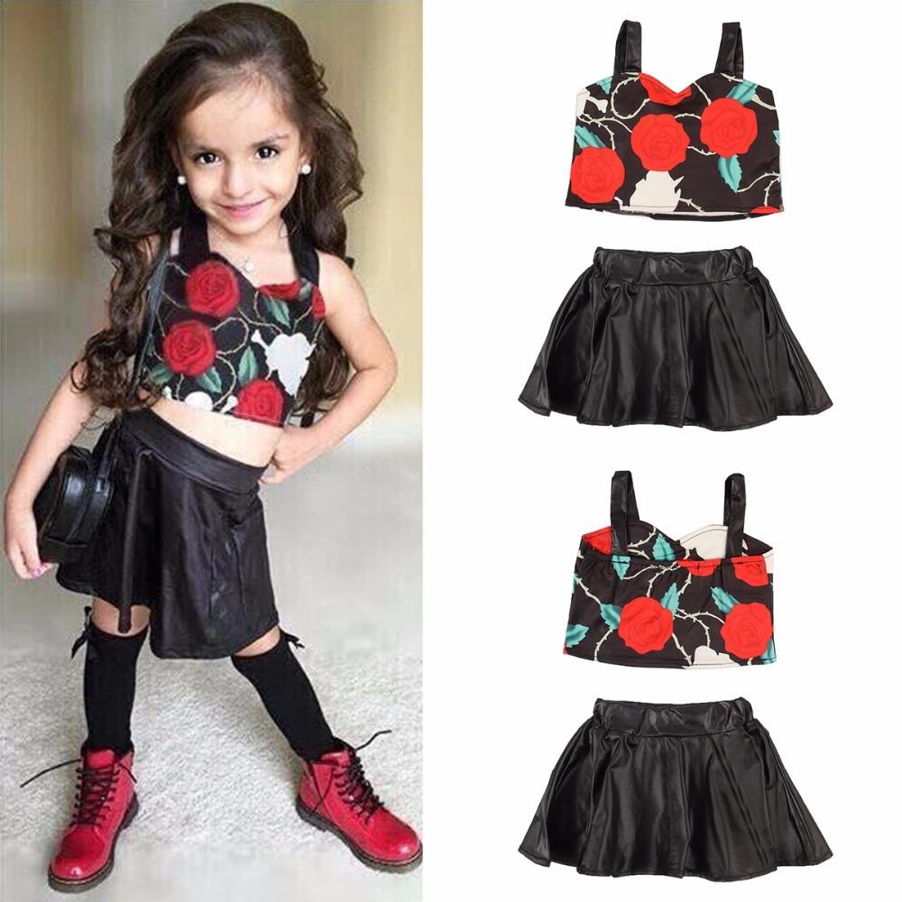 Puseky Toddler Kids Baby Girl Clothing Floral Strap Crop ...