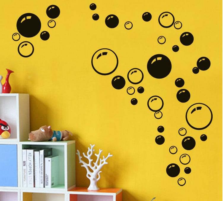 burbujas de bricolaje arte de la pared de bao ducha azulejo extrables decoracin mural decal