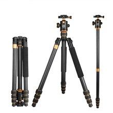 QZSD Q1088C fotoğraf karbon Fiber dijital kamera Tripod hafif işkembe panoramik kafa Monopod kamera aksesuarları Tripodes
