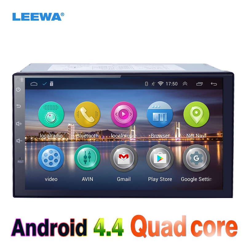 LEEWA 7inch Android 4.4.2 Quad Core Car Media Player With GPS Navi Radio For Nissan Sylphy/Patrol/Tiida/Pathfinder/Juke WIFI feeldo 7inch android 4 4 2 quad core car media player with gps navi radio for nissan hyundai universal 2din iso gift am3900