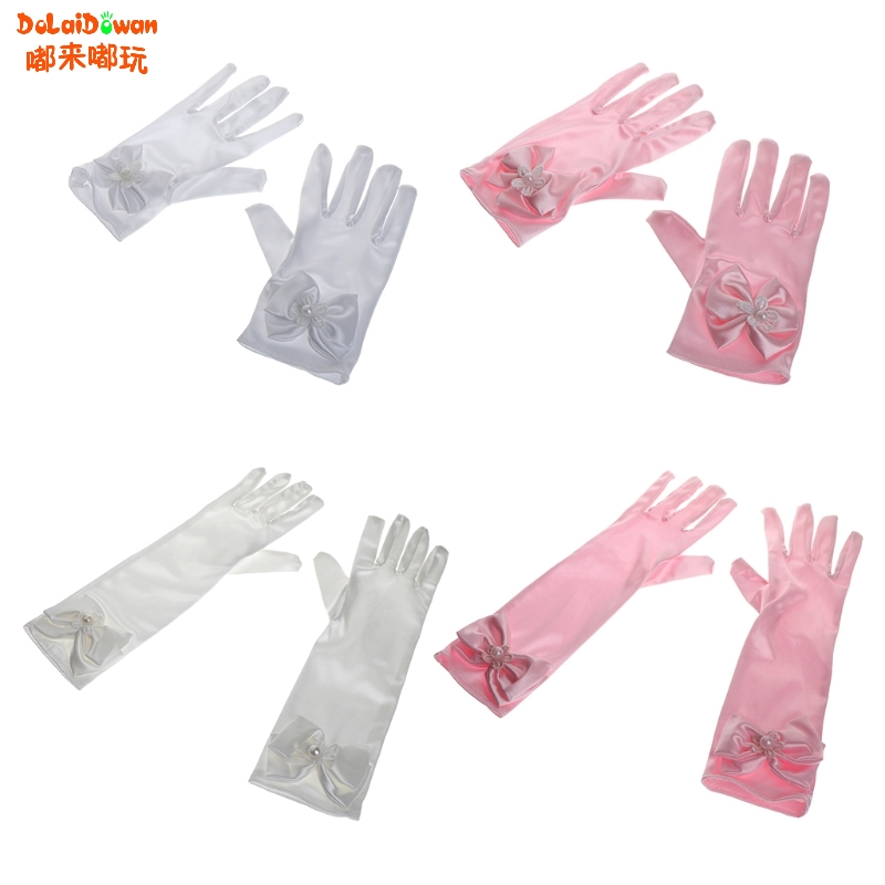 Gloves & Mittens Accessories Fast Deliver Children Kids Girls Elbow Pageant Dance Birthday Party Gloves Wedding Gloves Choice Materials