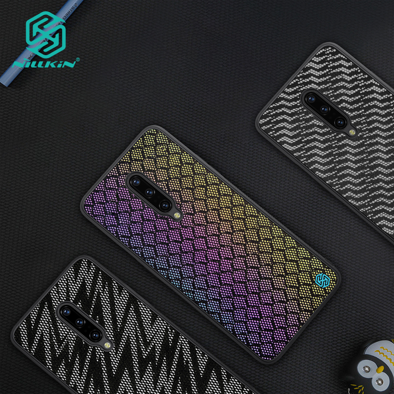 NILLKIN Case for OnePlus 7 Pro Woven Polyester Mesh Shell Colored Glitter Holographic Gradient Reflective CaseNILLKIN Case for OnePlus 7 Pro Woven Polyester Mesh Shell Colored Glitter Holographic Gradient Reflective Case