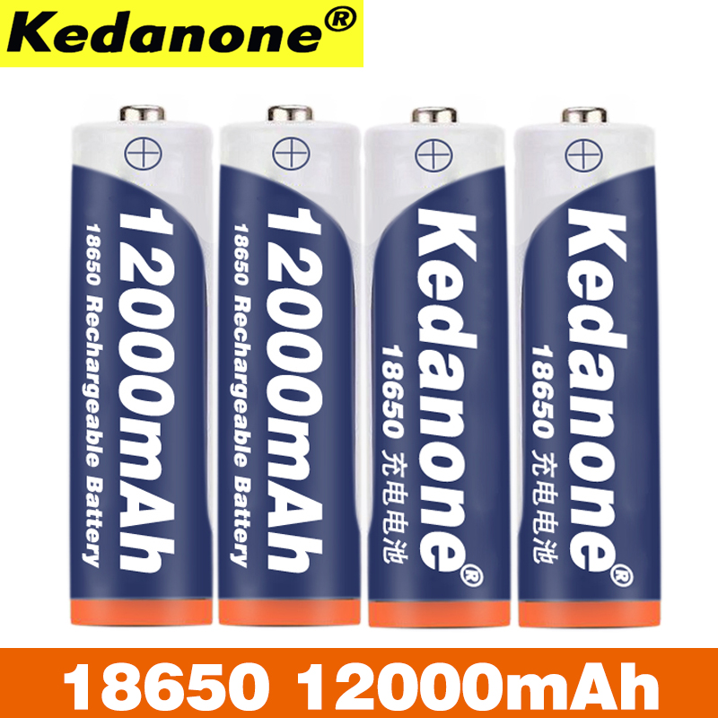 Kedanone 18650 Rechargeable Battery 3.7 In 18650 12000 MAhcapacity Lithium-ion Rechargeable Battery For Flashlight Torch Battery