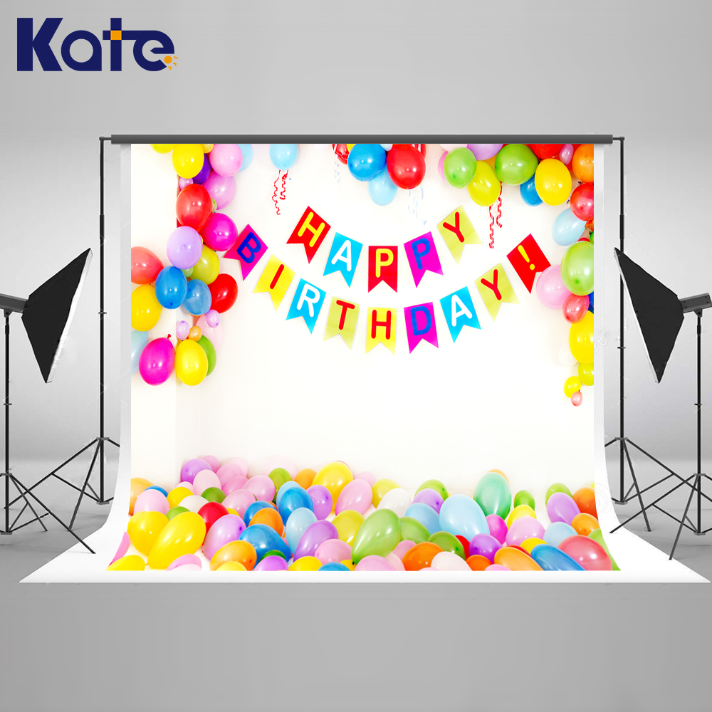 150X220cm(5*7ft) Kate White  Camera Balloon  Photo Backdrop Happy Birthday Backgrounds For Photo Studio For Children сумка kate spade new york wkru2816 kate spade hanna