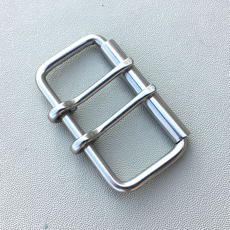 Stainless Steel Belt Buckle For Waistband Bag Leather Buckle With Roller Double Pin Buckle 60mm Inner Width buckle