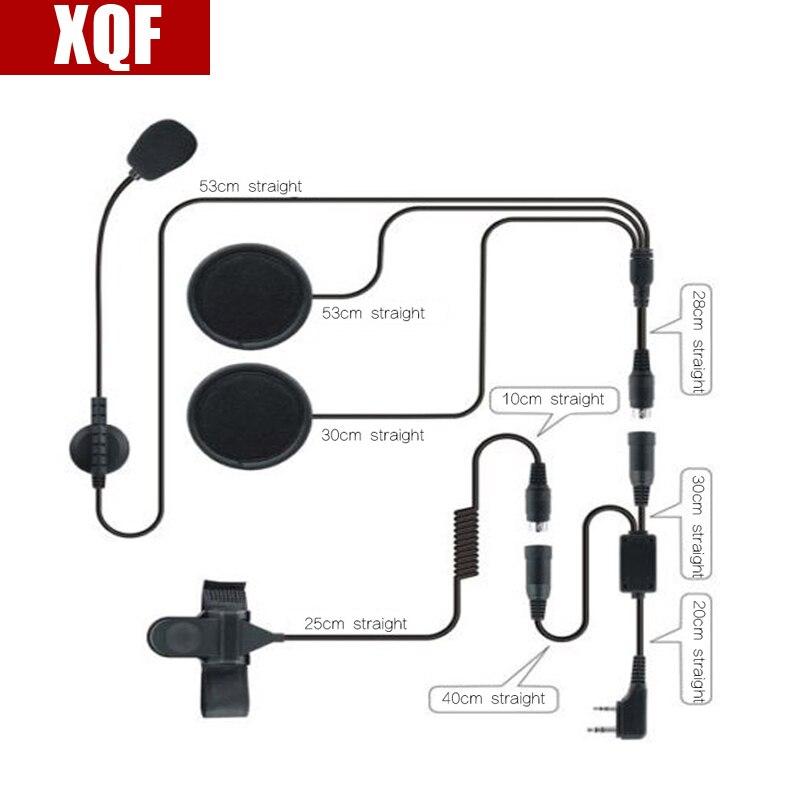 XQF 2 Pin PTT Motorrad Helm Headset für BAOFENG UV-5R zweiwegradio CB Ham Radio Kopfhörer