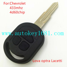 New Replacement Remote Car Key For Chevrolet Lova Optra Lacetti 3 button 433mhz with 4D60 Chip with uncut blade
