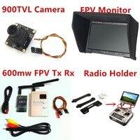 Комплект Азм RC Combo system 900TVL камера + 5,8 ГГц 600 мВт 48CH VTx VRx + 800x480 HD Снежный монитор + держатель для радиоуправляемого автомобиля