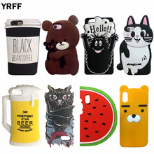 YRFF New Cute 3D Cartoon Color Horse Unicorn silicon phone case for