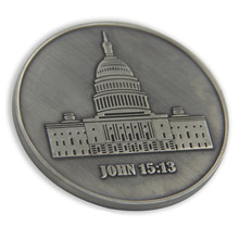 3D American White House coins custom plating old antique silver Coin High quality OEM Custom made metal 3d coin 3d coins custom hot sales plating antique silver coin high quality custom made metal old silver coins