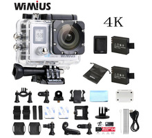 Wimius 2,0 LTPS + 0,66 Status screen Wifi 4 Karat Action Kamera Full HD 1080 P 60fp Mini Video Sport Helm Camara Gehen Wasserdichte 40 Mt Pro