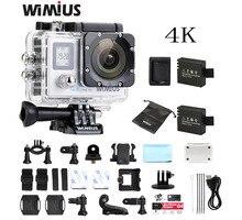 Wimius 2.0 LTPS+0.66 Status screen Wifi 4K Action Camera Full HD 1080P 60fp Mini Video Sport Helmet Camara Go Waterproof 40M Pro