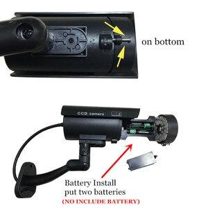 Image 4 - 4pcs Wasserdichte Gefälschte Kamera Dummy Outdoor Indoor Gewehrkugel Sicherheit CCTV Überwachung Kamera Blinkende Rote LED Freies Verschiffen
