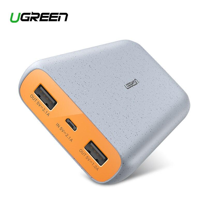 Ugreen Power Bank 20000 mAh Slim Power Für Xiao mi mi 8 Tragbare Externe Batterie Ladegerät Für iPhone 7 8 X Dual USB Pover Bank