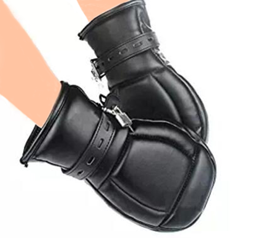 Leather Padded Mittens Gloves Dog Paw Palm Bdsm Bondage Restraints Sex Toys For Couple Fetish Puppy Play In Adult Games From Beauty Health On
