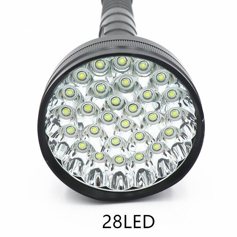 98000 lumen 28 LED XML T6 18650 26650 exploration torch light flashlight tactical lantern self defense