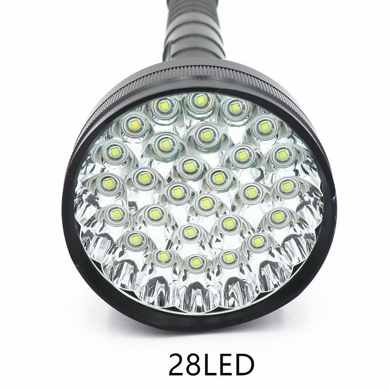 Lights & Lighting Lamp 48000 Lumen 28 Led Xml T6 18650 26650 Exploration Torch Light Flashlight Tactical Lantern,self Defense,camping Light