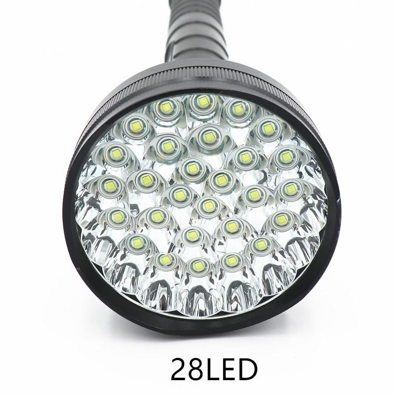 98000 lumen 28 LED XML T6 18650 26650 exploration torch light flashlight tactical lantern,self defense,camping light, lamp-in Flashlights & Torches from Lights & Lighting    1