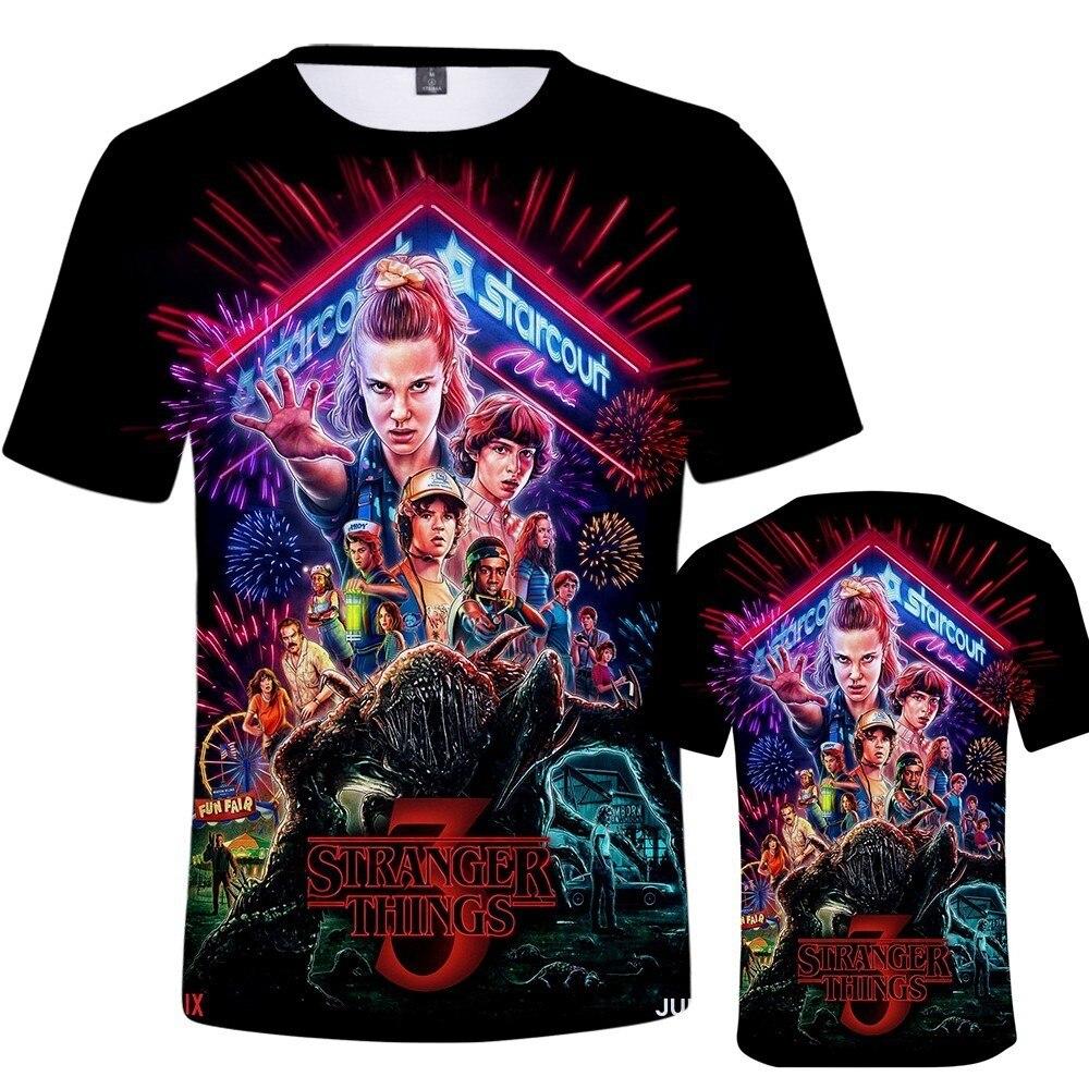 Dropship 3D Printed T Shirt Men/Women/kid Stranger Things 3 T-shirt harajuku Tee Shirt streetwear Eleven Top Tee plus size