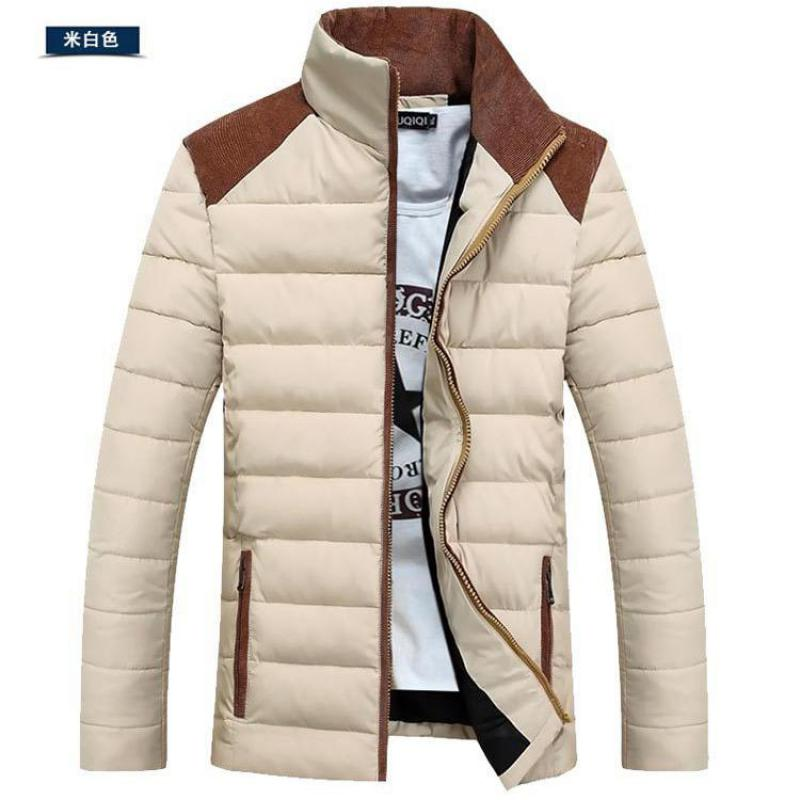 ФОТО 2017 New Man Coat Cotton Padded Jacket Collar Men Winter Leisure Thick Warm Clothes Fashion