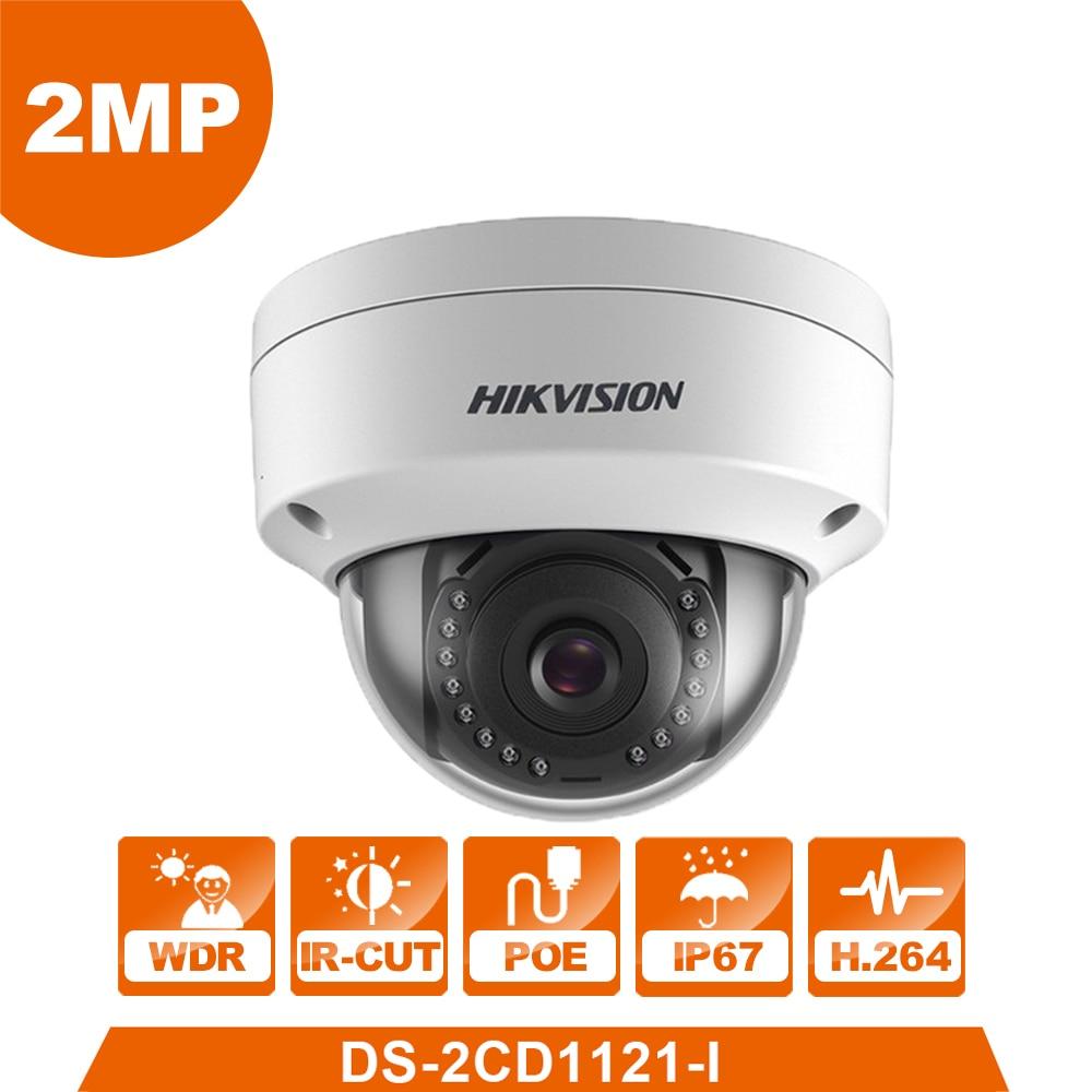 Hikvision оригинальный английский CCTV Камера DS-2CD1121-I заменить DS-2CD2125F-IS 2MP купольная ip-камера Камера POE IP67 обновляемое