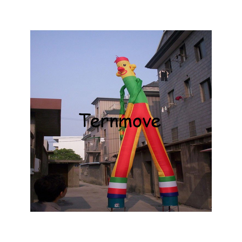Inflatable clown air dancer with double legs for promotion double legs air dancing dance wind tube manInflatable clown air dancer with double legs for promotion double legs air dancing dance wind tube man