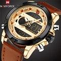2017 NAVIFORCE Mens Watches Top Brand Luxury Quartz Watch Men Digital LED Clock Male Military Sport Wristwatch relogio masculino