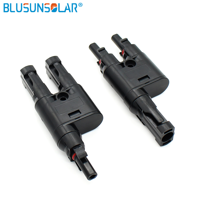 Image 5 - Solar Panel MC4 T Branch Connectors Splitter Coupler MMF and FFM Wire Branch-in Connectors from Lights & Lighting