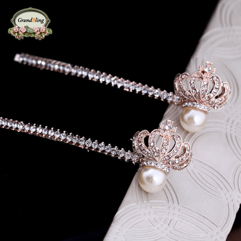 New Style Korean Princess Crown Hairpin More Hair Vintage Crystal Phoenix Hair Jewelry For font b