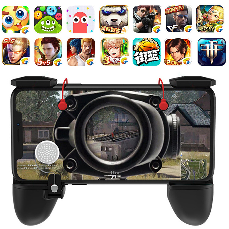 все цены на 3 in 1 PUBG Controller Game Fire Button Aim Key phone Trigger R1 L1 Shooter Gampads PUBG Mobile Gaming Handle Shooter Controller