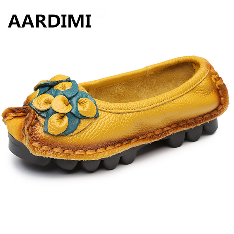 Hot Sell Designer Handmade Women Genuine Leather Shoes Women Flats Shoes 5 Colors Vintage Ballet Flats Shoes Woman Zapatos Mujer new 2016 european brand designer winter warm flats black leather rabbit fur loafers metal decorated hot sell flat shoes women