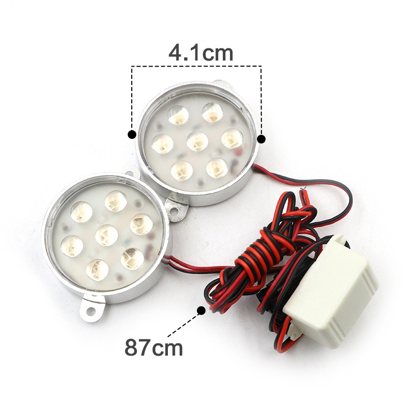 Universal Motorcycle LED Light 12V Strobe LED Headlight Lamp Offroad Car Motorbike Bicycle Van Truck Scooter Flashing Rear Light