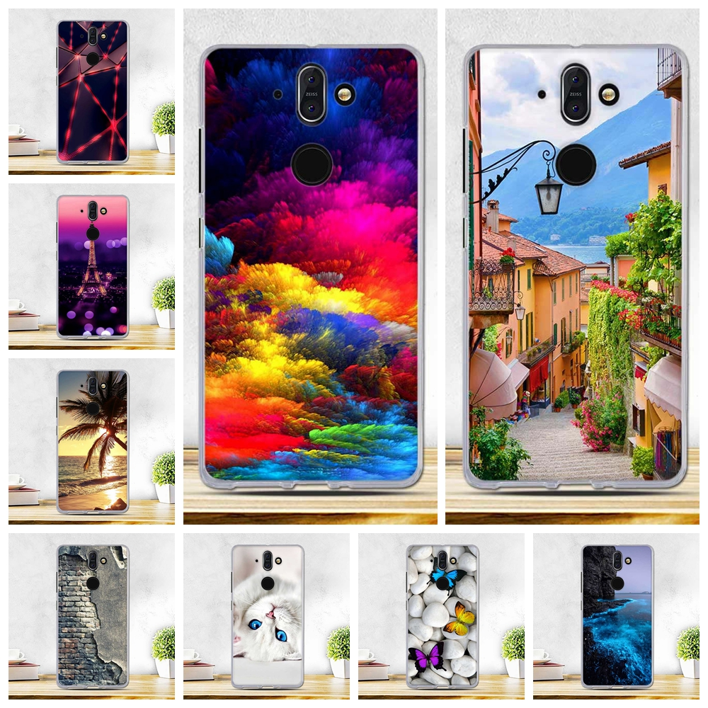 For Nokia 8 Sirocco Case Soft Silicone Cover For nokia8 Sirocco Cover Thin TPU Back Shell For Nokia 8 Sirocco