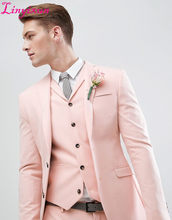 cb6967fb2fc31 Anglia Styl Linyixun Pearl Różowa Ślubu Garnitur Mężczyzn Garnitury Slim  Fit męska Szyte Na Miarę Garnitur · 2 dostępne kolory