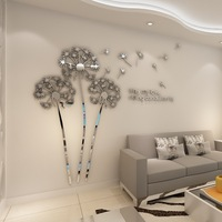 Hot sell Acrylic 3D Photo Frame Tree Wall Sticker wall picture for home decoration