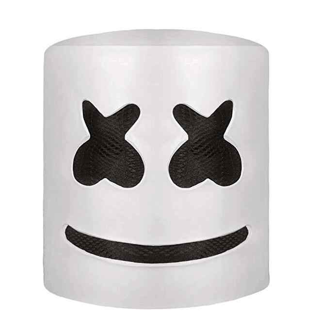 Music DJ Marshmello Mask Full Head Party Carnaval  Mask Marshmallow Adult Latex Headgear Halloween Party Cosplay Costume Props