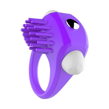 Vibrating Cock Ring Soft Silicone Penis Ring Clit Stimulation Vibrator for men Penis Delay Ejaculation Cockring Couples Sex Toys