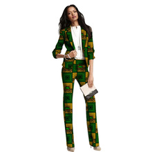 hot deal buy african clothing women print suits blazers with trousers ankara fashion pant suits customized wedding female formal outfits