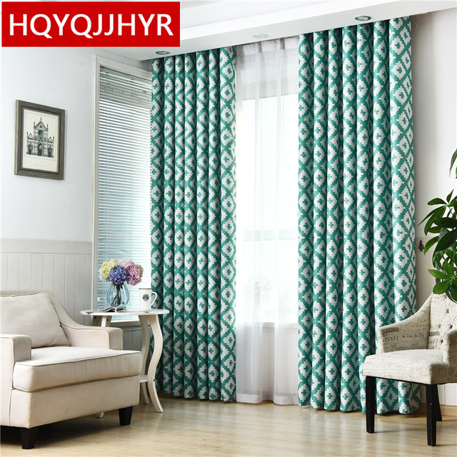 Custom Made Modern Minimalist Grill Blackout Curtains For Living Room Sheer Bedroom Window