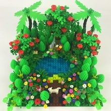 City Military Accessory Building Blocks MOC Weapon DIY Green Bush Flower Grass Tree Plants Garden Toys Legoe City Blocks For Kid mary maccracken city kid