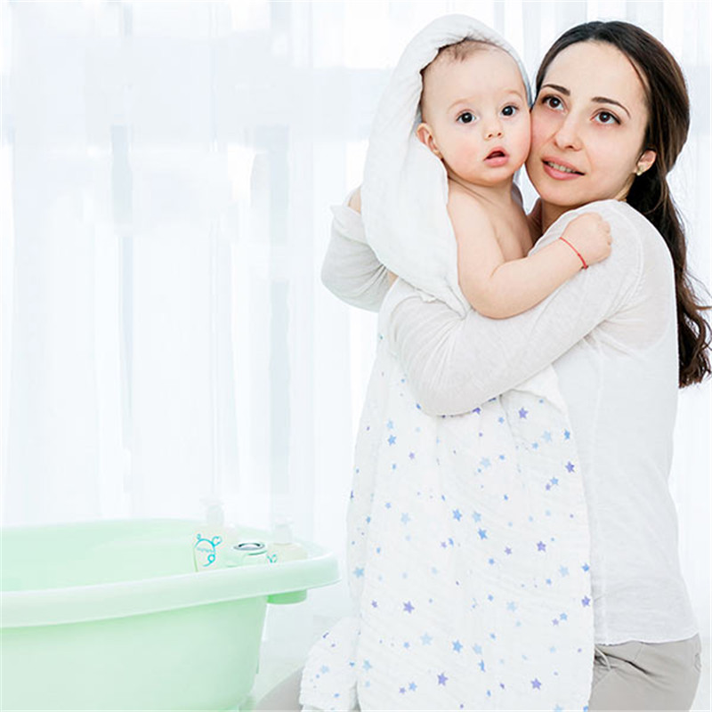 Vvcare BC-TK002 Baby Bath Shower Towel Swaddle Blankets Kids Soft Cotton Stoller Cover ...