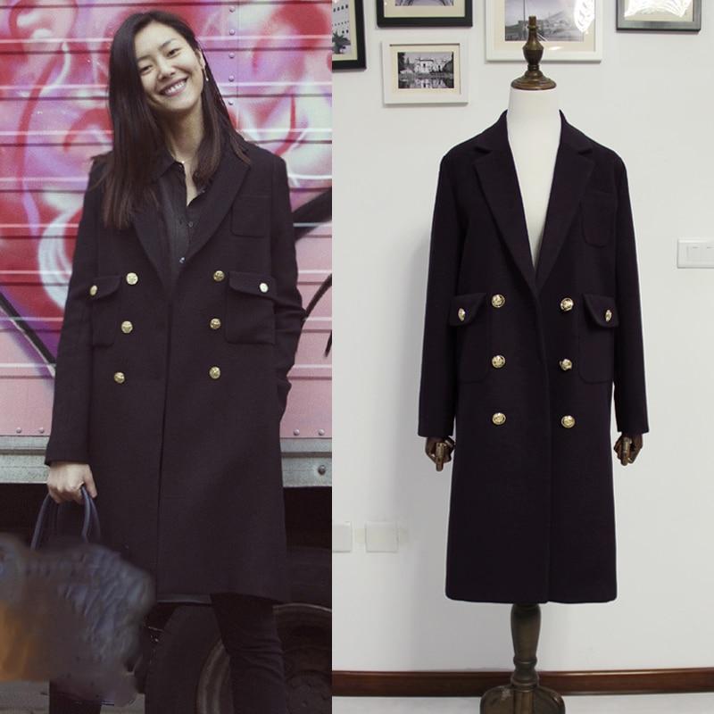 Британский новый модный 2020 осень/зима женское двубортное шерстяное пальто с подкладкой толстое теплое пальто бренд casaco feminino