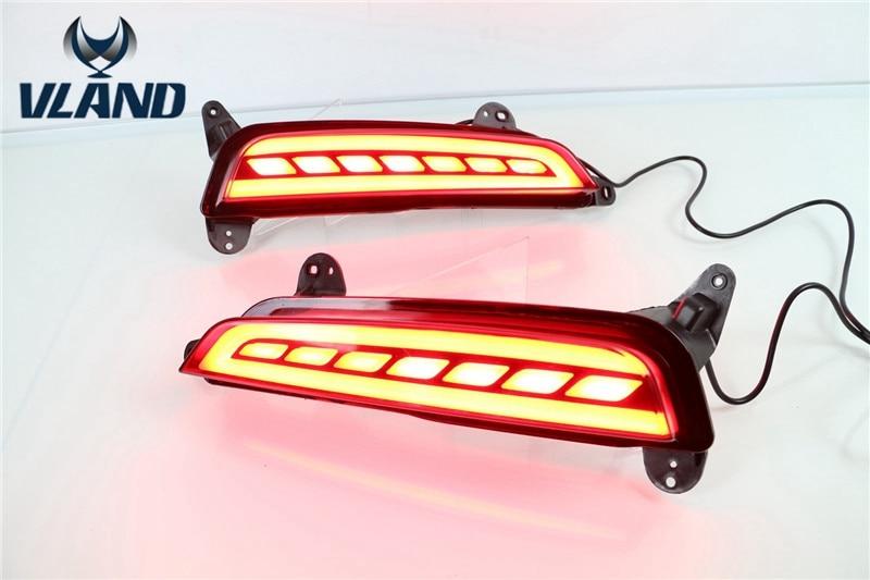 Бесплатная доставка для Вланд светодиодные предупреждения света для Hyundai ix25 задний бампер свет стоп 2015 2016 поворотник задний бампер свет
