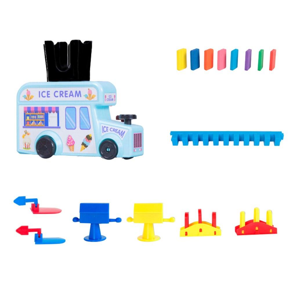 Детский набор домино, игрушки, домино, поезд, домино, набор блоков, строительные и складные игрушки, блоки для мальчиков и девочек, творческие подарки для детей - Цвет: Sky-blue