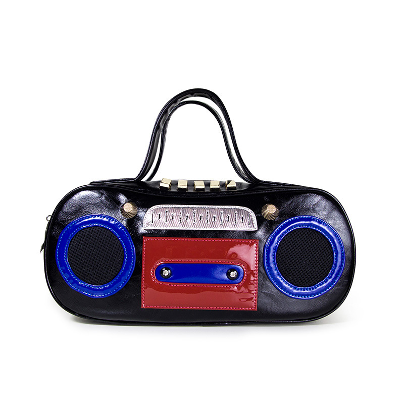 ФОТО Europe And The United States Music Retro Tape Recorder Model Shoulder Bag Diagonal Handbag Vintage Emulation Top-Handle Bags
