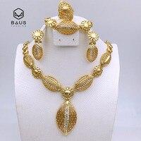 Ovale gioielli set Etiopia India Dubai insieme dei monili delle donne Da Sposa Da Sposa Romantico perla Africana Saudita oro gioielli Accessori