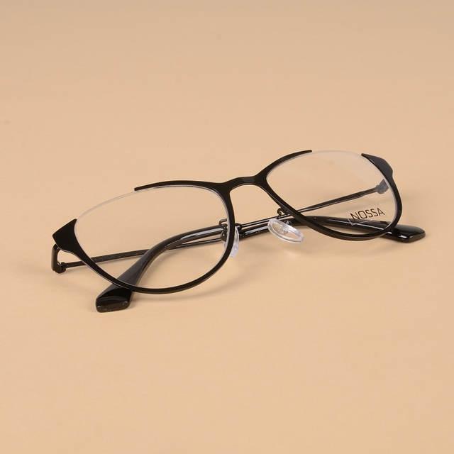 870a39cae42 Cat Eye Women Metal Optical Glasses Frame Female Personality Myopia Frame  Cool Eyeglasses Lady Cateye Spectacle