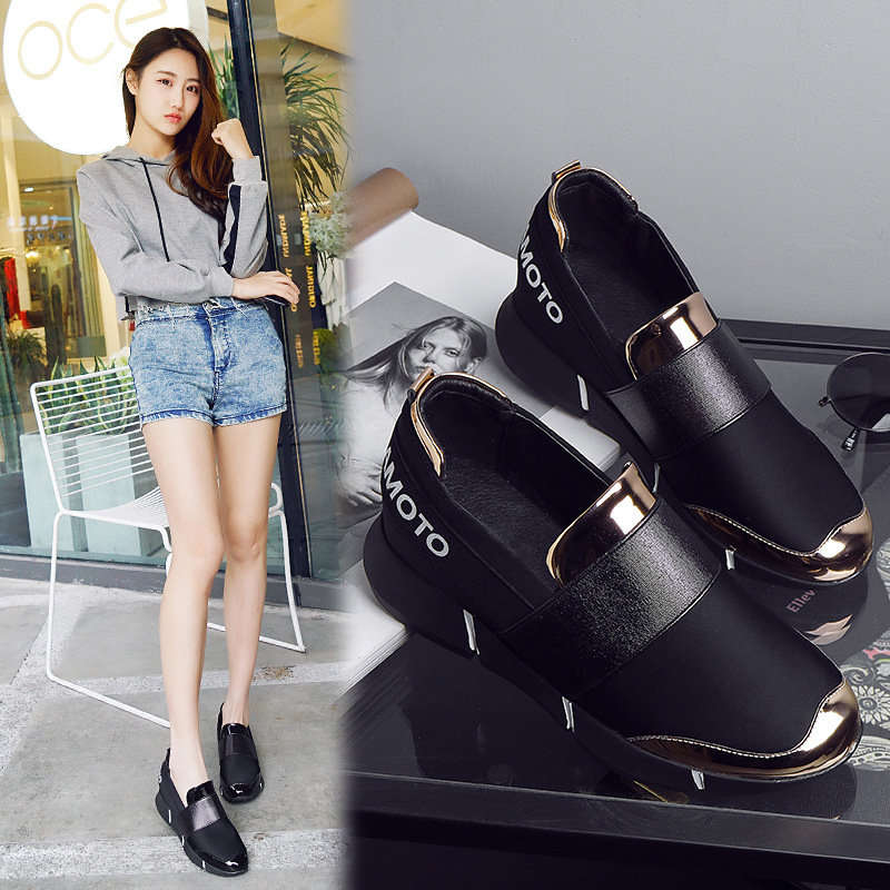 Casual women shoes 2019 new Korean version of a foot to fashion breathable comfortable lightweight ladies shoes in Women 39 s Vulcanize Shoes from Shoes