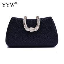 все цены на Clutch Wedding Women Evening Bag 2019 Party Glitter Ponch For Women Ladies Handbag Purse With Chain Rhinstone Red Wedding Bag онлайн